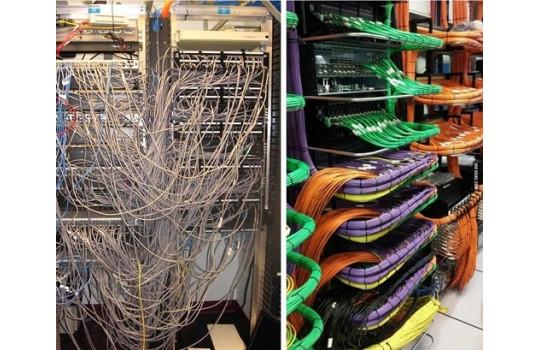 Cable management в серверной